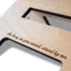 """Crafted Lasergravur - """"As long as you stand, stand by me."""""""