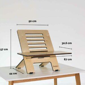 Standsome Slim Crafted mit breiter Ebene - Produktmaße