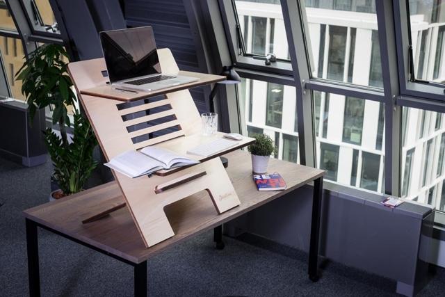 Standsome Stehschreibtisch Schreibtisch höhenverstellbar