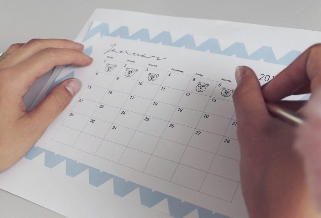 Kalender Zeichen