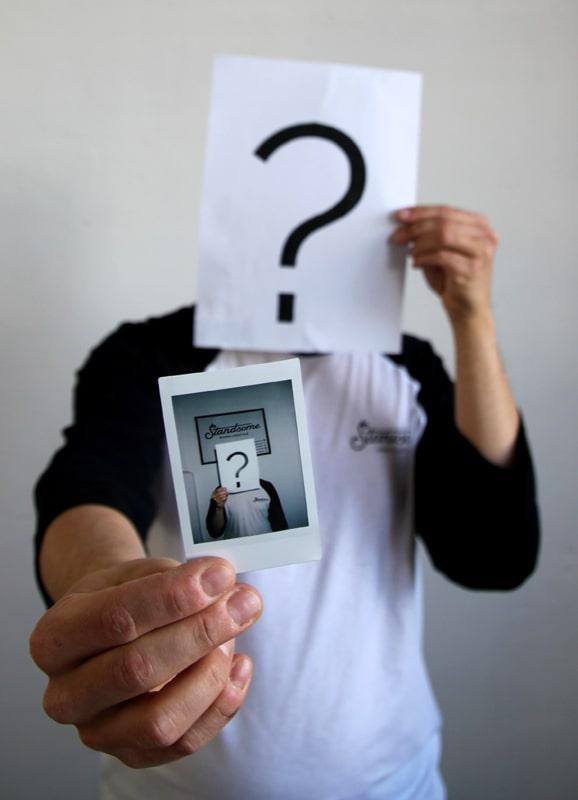 Fragezeichen Gesicht
