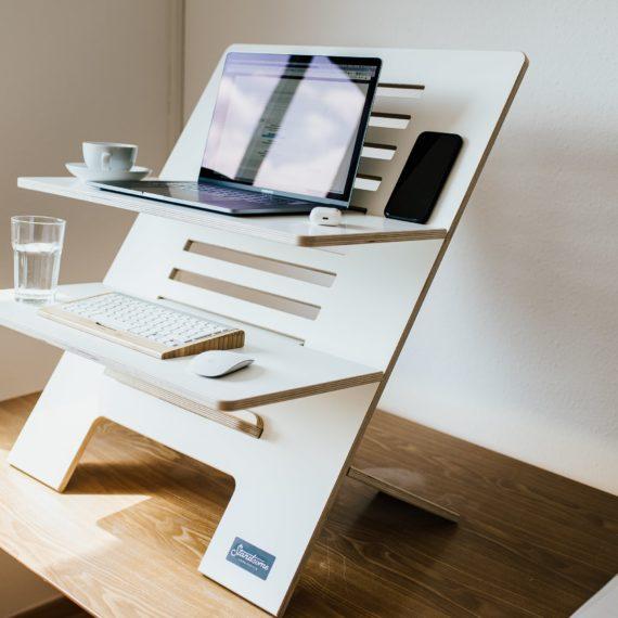 Standsome Double White Stehschreibtisch Standing Desk