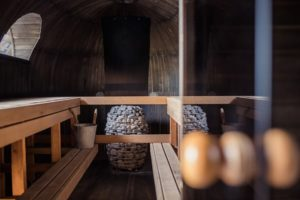 Sauna fuer den Kreislauf