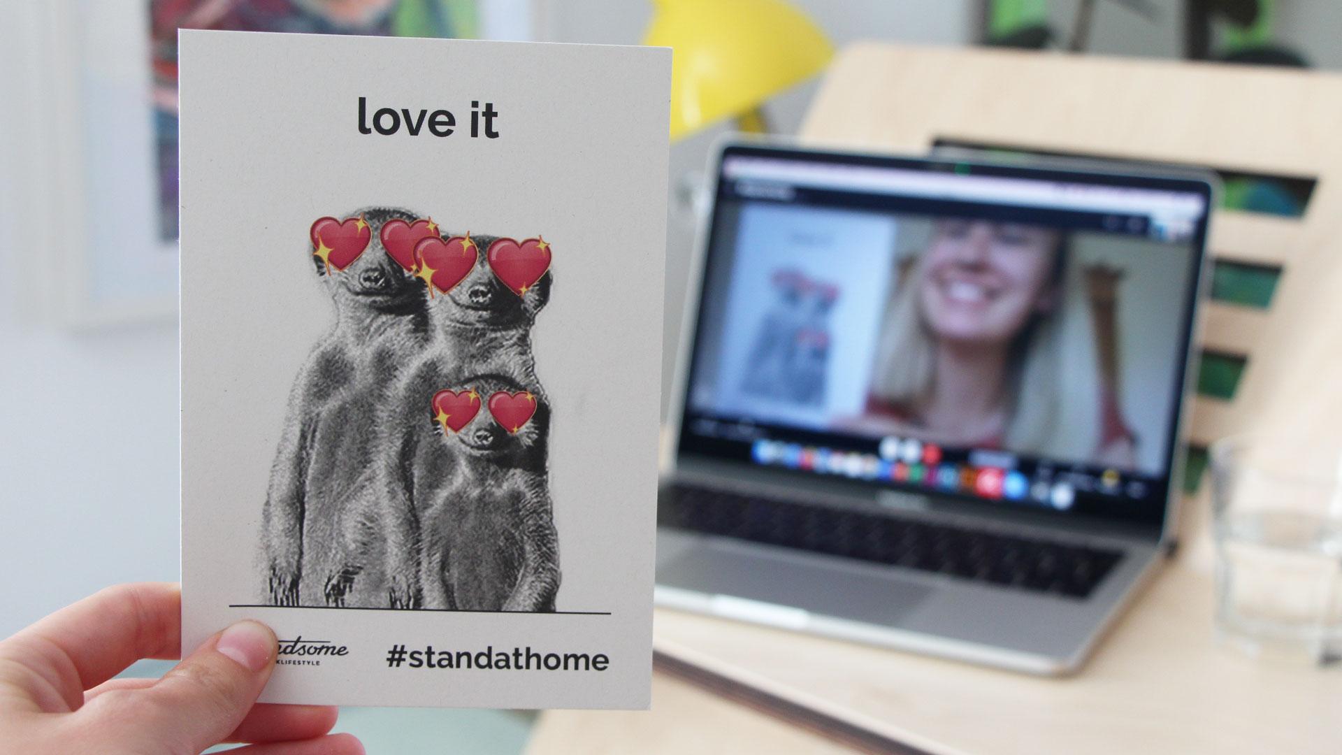 Home Office Meeting - Mitteilungskarten