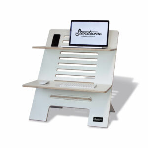 Standsome Double White - height adjustable standing desk
