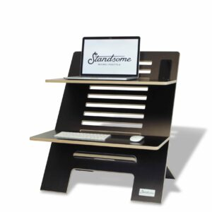 Standsome Double Black - height adjustable standing desk