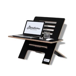 Standsome Slim Black with wide plate - standing desk