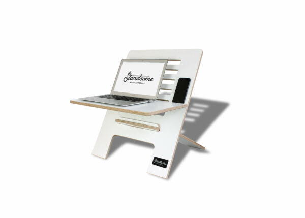 Standsome Slim White – height adjustable standing desk