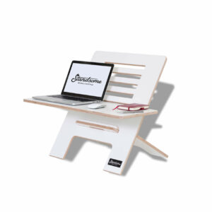 Standsome Slim White with wide plate - standing desk