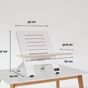 Standsome Slim White with wide plate – Product dimensions