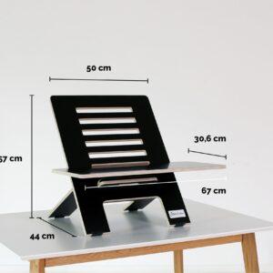 Standsome Slim Black mit breiter Ebene - Produktmaße